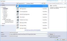 Visual Basic Windows Form Application
