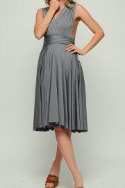 Dark Gray Bridesmaid Dress Infinity Dress Convertible Dresses