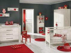 Dark gray walls in Mickey room