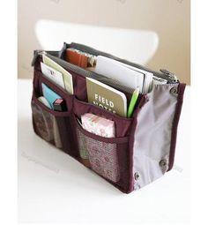 Handbag-Insert-Organizer-Purse-Dual-Storage-Bag-in-Bag-Multi-Pockets-Wine-LG0