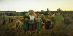 Calling in the Gleaners (1859), Jules Breton (1827 - 1906). Musée d'Orsay, Paris, France.
