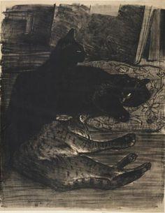 Steinlen, Les chats, 1896 ~Via M@rtina
