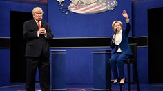 See How SNL's Second Donald Trump vs. Hillary Clinton Parody Compares to the Real Town Hall Debate