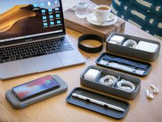 BentoStack Charge is a delightful storage case designed specifically to hold Apple accessories for travel and workspace organization. Mobile Accessories, Travel Accessories, Apple Watch, Apple Pen, Latest Iphone, Desktop Organization, Iphone Charger, Cool Inventions, Unique Gifts