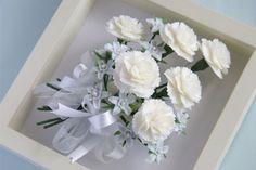 Framed soap flowers Carnations