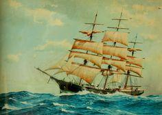 Vintage ship print on Etsy