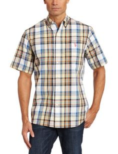 U.S. Polo Assn. Men's Plaid Button Down Shirt.