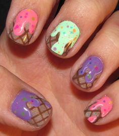 80 Best Ice Cream Nails Images In 2017 Manicure Cute Nails Ice