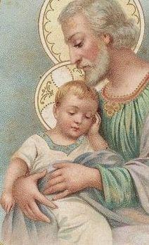 CANSADO DE JUGAR, JESÚS SE DUERME FELIZ EN BRAZOS DE PAPÁ JOSÉ