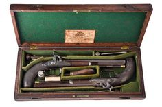 "Cased ""Dueling"" Pistols, by Durs Egg, 1800-1815. Charleston Museum"