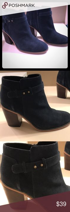 Shop Women's Sole Society Blue size 8 Ankle Boots & Booties at a discounted price at Poshmark. Suede Booties, Bootie Boots, Ankle Boots, Shop My, Booty, Ink, Best Deals, Closet, Things To Sell