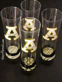 Appalachian State Glasses Mountaineers Boone NC by StarrParnell, $25.00
