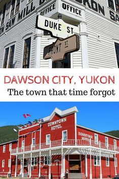 We included Dawson City on our Alaska Highway road trip. Here's why: Dawson City, Yukon, Canada. An amazing heritage town that's straight out of the Gold Rush! Yukon Alaska, Yukon Canada, Ruée Vers L'or, Alaska Highway, Highway Road, Places To Travel, Places To Go, Visit Canada, Canada Eh