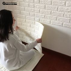 Buy Brick Pattern Wallpaper Bedroom Living Room Modern Wall Background TV Decor at Home - Design & Decor Shopping Living Room Modern, Living Room Bedroom, Bedroom Modern, Brick Bedroom, Bedroom Sofa, Diy Bedroom, Living Rooms, Bedroom Girls, Design Bedroom