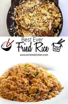 Best Ever Fried Rice Best EVER Fried rice with egg – This easy stir fry recipe for is a healthy alternative to take out. This authentic dish can be made with chicken, shrimp or pork and makes the perfect side dish or main meal that's better than takeout. Stir Fried Rice Recipe, Fried Rice With Egg, Making Fried Rice, Indian Egg Fried Rice Recipe, Stir Fry With Rice, Best Chicken Fried Rice Recipe, Pork Fried Rice Easy, Hibachi Fried Rice, Loosing Weight