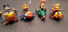 VTG Disney Tail Spin 1:64 Diecast Miniatures Airplanes Kids Toy Lot of 4 #Disney