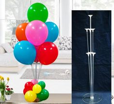 10 PCS Clear Balloons Base Pole with Cup Stand Party Latex Balloons -Ballons Wholesale Supplier- Cool Fashion Gift - Camera - Jake Paul - Fashion Plastic Balloons, Clear Balloons, Latex Balloons, Balloons On Sticks, Balloon Stands, Balloon Arch, Balloon Garland, Balloon Bouquet, Balloon Centerpieces