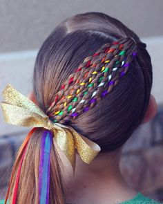 17 Trendy Kids Hairstyles You Have to Try-Out on Your Kids Crazy Hair Styles for Girls, Girl Hair Dos, Baby Girl Hair, Toddler Girl Hair, Hair Girls, Crazy Hair Days, Crazy Hair Day Girls, Crazy Hair For Kids, Rainbow Fashion, Winter Hairstyles