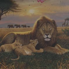 KINGS OF THE SERENGETI - African lions themed 1000 piece jigsaw puzzle from Ravensburger.  Great gift for someone who dreams of or who has already visited Africa.  Rare find on eBay. $74.95  #wildcats