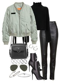 """""""Untitled #4724"""" by theeuropeancloset on Polyvore featuring Alexander Wang, Golden Goose, H&M, Fendi, ASOS, Ray-Ban, MICHAEL Michael Kors and Jules Smith"""