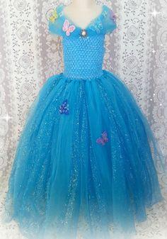 Cinderella 2015 costume tutu dress Princess party, dress up cosplay Girls 3-6 yr #inspiredinDisneymovie #Dress