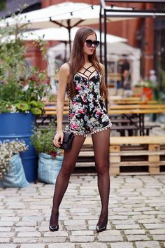 """razumichin2: """" Ariadna in floral jumpsuit and black tights 2 """""""