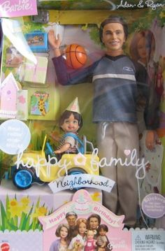 Barbie Happy Family ALAN & RYAN Dolls Happy Birthday! w 2 DOLLS, TOY JEEP & Accessories (2003) by Mattel
