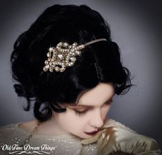 Gatsby Rhinestone 1920s Flapper Bridal by OldTimeDreamThings, $40.00