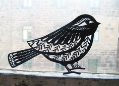 Paper Cut Bird by Emily Hogarth