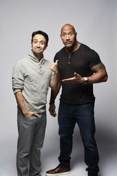"Lin with ""Maui"" Dwayne Johnson, ""You're Welcome"" Alexander Hamilton, Hamilton Musical, Hamilton Broadway, Funny People, Funny Men, Anthony Ramos, Hamilton Lin Manuel Miranda, And Peggy, What Is Your Name"