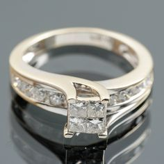 Timanttisormus, valkokultaa, 14 k, briljanttihiottuja timantteja. Wedding Rings, Engagement Rings, Jewelry, Enagement Rings, Jewlery, Jewerly, Schmuck, Jewels, Jewelery