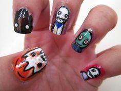 Salad Fingers nail art.: