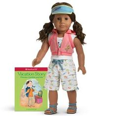 New in Box American Girl Doll Just Like You Island Vacation Outfit Book Beach | eBay