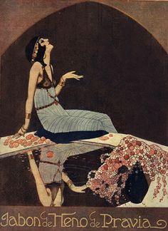 Federico Ribas for Heno de Pravia soap c.1916  The censored version…