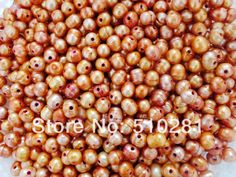 10-11mm 2.5mm hole 200pcs/lot Loose Freshwater Rice Pearl, Free Shipping No-513 $49.99