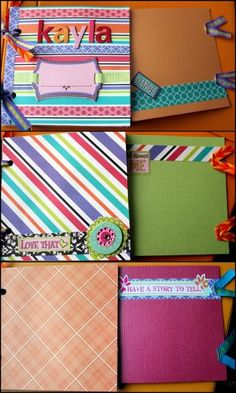Paper Bag Scrapbook Album