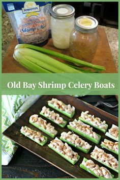 Old Bay Shrimp Celery Boats are a summertime classic. They are a perfect appetizer for a hot summer night.  Whole30 and paleo friendly!