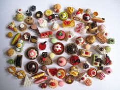 fimo food magnets