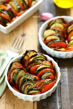 Tian of vegetables- Tian de légumes Tian of vegetables - Easy Chicken Recipes, Veggie Recipes, Cooking Recipes, Healthy Recipes, Healthy Food, Vegetable Soup Healthy, Salty Foods, Keto, Atkins