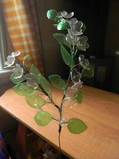 яблоня из пластиковых бутылок,мастер класс,мк.декоративное дерево из пластиковых бутылок,украшение интерьера,своими руками,цветущая яблоня,поделки из пластиковых бутылок.декор из пластиковых бутылок для дома,для сада