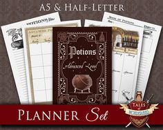 Printable Planner Set Planner Kit  POTIONS  A5 Filofax