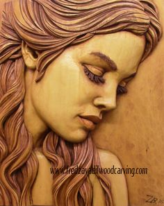 Relief wood carving, profile of a woman, one of the projects for Fred's wood carving workshops