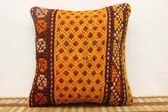 16 x 16 Throw Pillow Decorative Kilim Pillow by kilimwarehouse, $48.00
