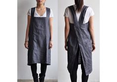 The Hearty Home: A Japanese Style Apron Tutorial Sewing Aprons, Sewing Clothes, Diy Clothes, Japanese Apron, Japanese Style, Japanese Sewing, Apron Tutorial, Smocks, Diy Vetement
