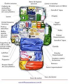 meia bota, bota e meia: Organizar a mochila
