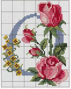 Schemes embroidery alphabet