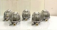 NEW ALUMINIUM ORIGINAL SHIP NAUTICAL ANTIQUE WALL PASSAGEWAY OVAL LIGHT LOT OF 5