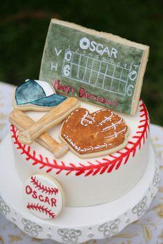 baseball birthday party cake for Lucas!