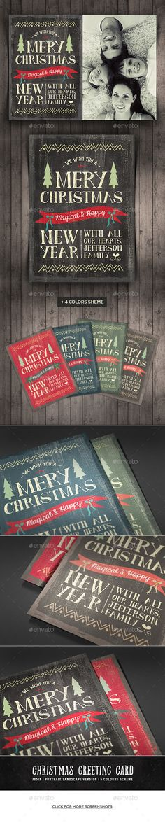 Geometric Christmas Greeting Cards Christmas greeting cards and - new year greeting card template