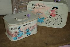 Vintage Child's Luggage Set - Miss Traveler
